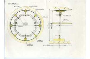 9 支保工兼浮上防止工 施工図